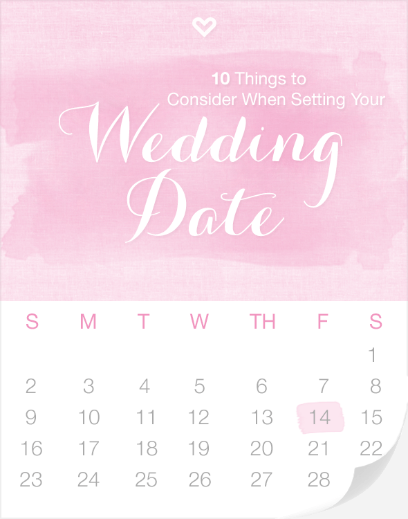 10 Things to Consider When Setting Your Wedding Date via Loverly - Fairly Southern
