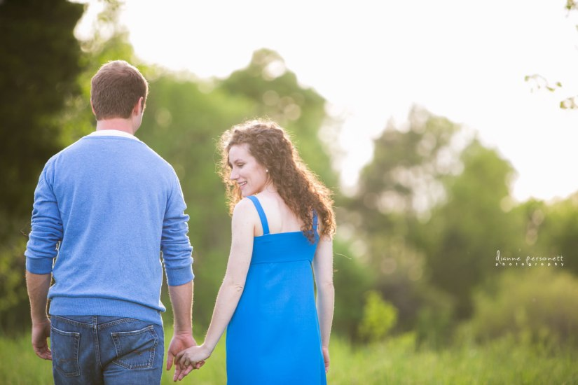 Vibrant NC Meadow Engagement Session - Fairly Southern