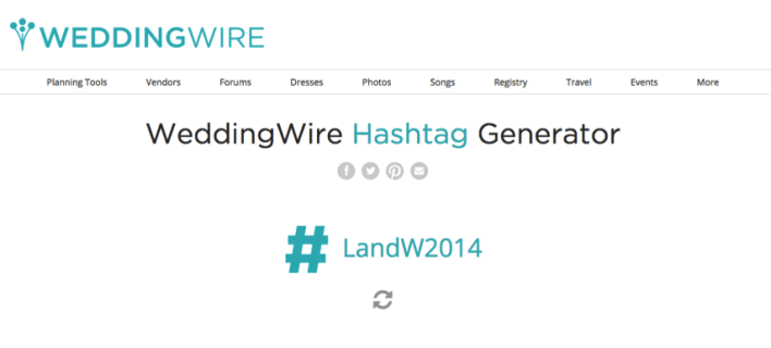 WeddingWire Hashtag Generator: Create a Personalized Wedding Hashtag! - Fairly Southern