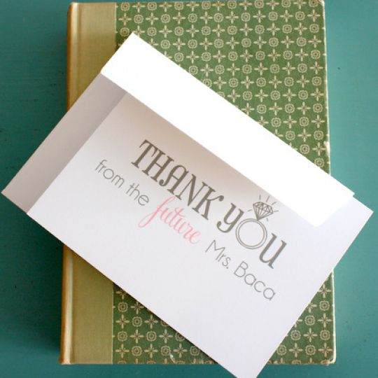 """Personalized """"Future Mrs."""" Thank You Notes from Put A Case On Me - Fairly Southern"""