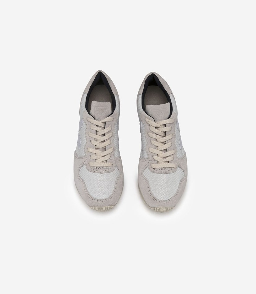 Veja Holiday Low Top Suede B-Mesh White Pierre Fair Trade Sneakers | Fairly Southern