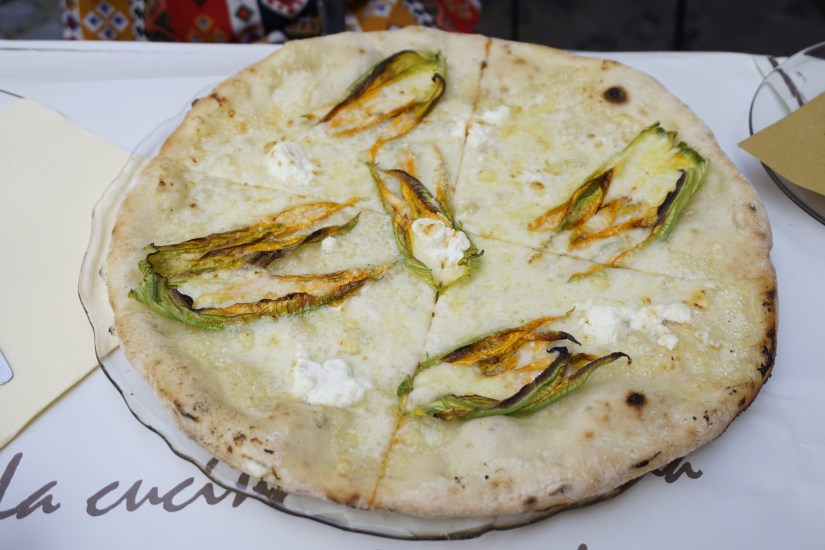 Gluten-Free Zucchini Flower Pizza at Mama Eat in Rome - Tips for Eating Gluten-Free in Italy | Fairly Southern