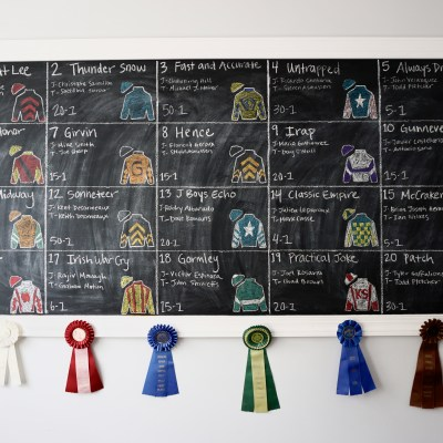 Kentucky Derby Decor with Recycled Horse Show Ribbons