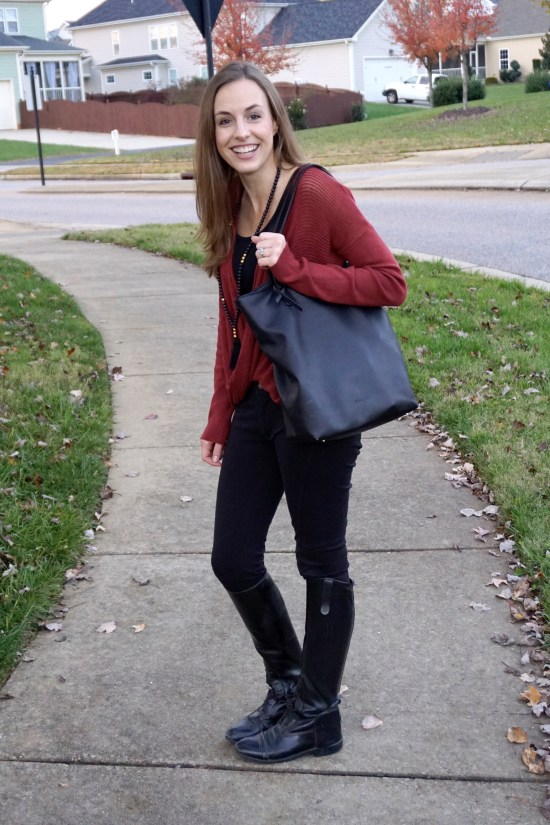 Rust Colored Sweater for Fall - Why I Haven't Bought New Clothes This Fall   Fairly Southern