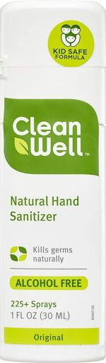 CleanWell Natural Hand Sanitizer  |  9 Sustainable Travel Essentials  |  Fairly Southern