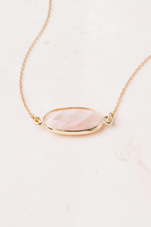 Starfish Project rose quartz necklace |  Ethically Made Women's Workwear Recommendations  |  Fairly Southern