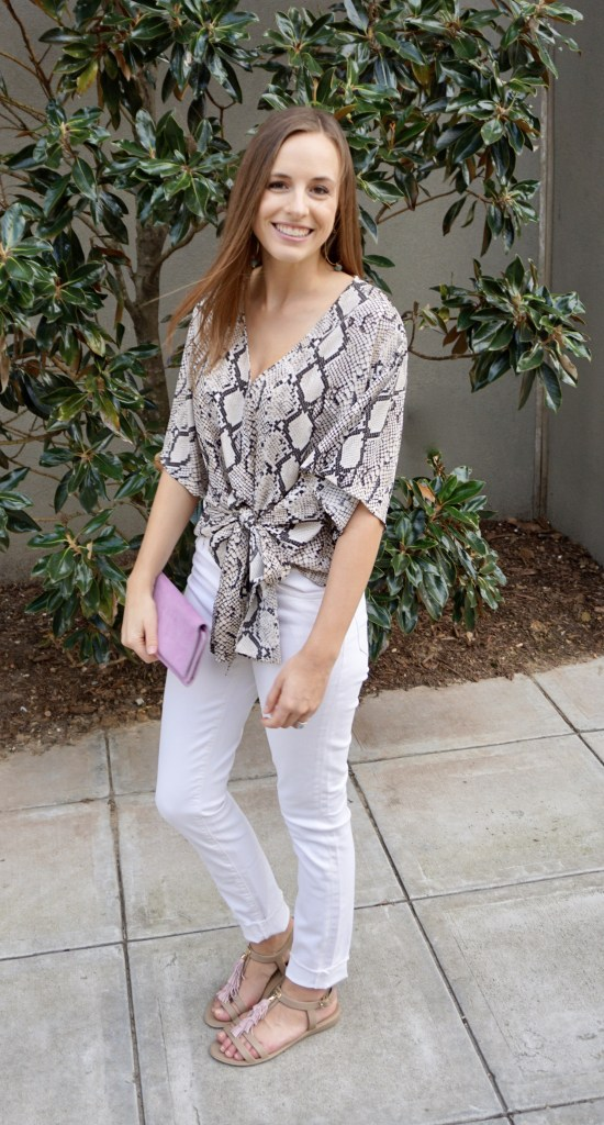 Snakeskin, Styled Two Ways  |  Ethical fashion using the latest spring fashion trend  |  Fairly Southern