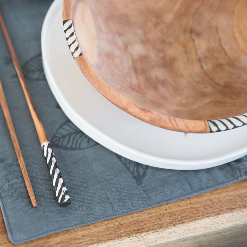 African olivewood bowl by Amani ya Juu - Fair Trade Home Goods made by artisans in Africa  |  Fairly Southern