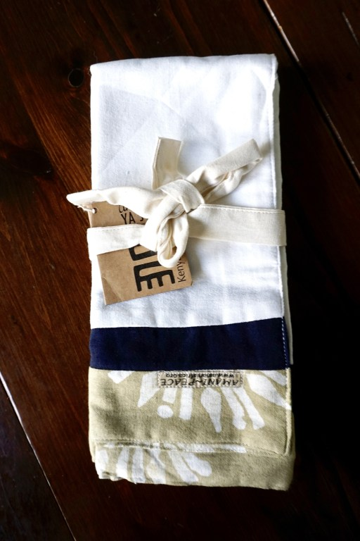 Limited tea towel set by Amani ya Juu - fair trade home goods made by artisans in Africa  |  Fairly Southern
