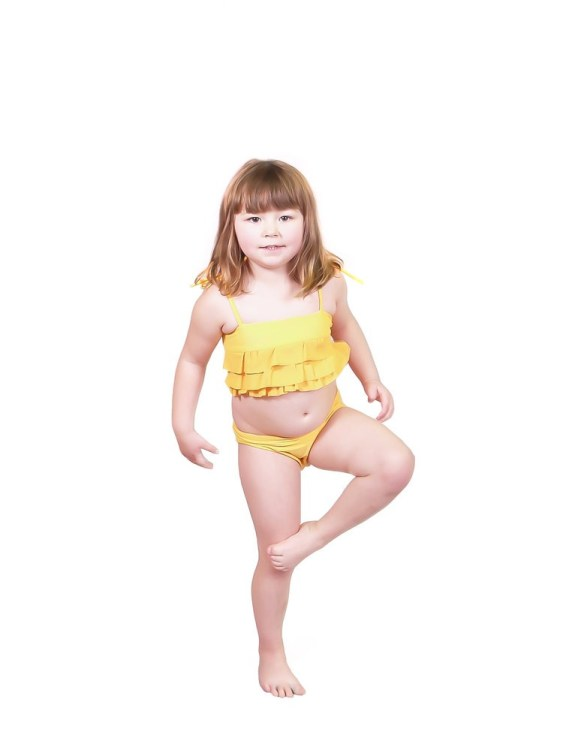 Elle Evans kids' yellow bikini  |  Sustainable and Ethically Made Swimwear for Women, Men, and Kids  |  Fairly Southern
