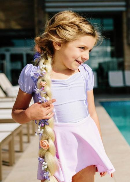 Jessica Rey Swimwear purple and pink kids' swim dress     Sustainable and Ethically Made Swimwear for Women, Men, and Kids     Fairly Southern