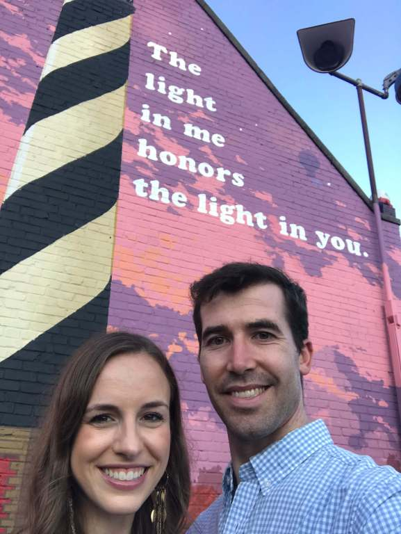 The light in me honors the light in you mural in Chapel Hill -  Small Joys  |  Fairly Southern
