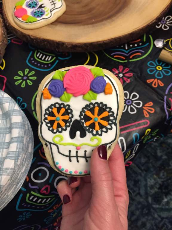 Day of the Dead Sugar Skull gluten free sugar cookies  |  Fairly Southern