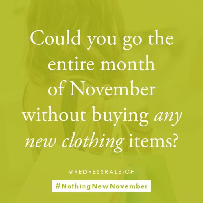#NothingNewNovember sustainable clothing challenge  |  Fairly Southern