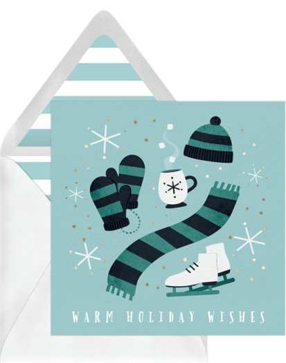 Snow Day Classics Card by Greenvelope | 10 Gorgeous & Sustainable Holiday Greeting E-Cards | Fairly Southern