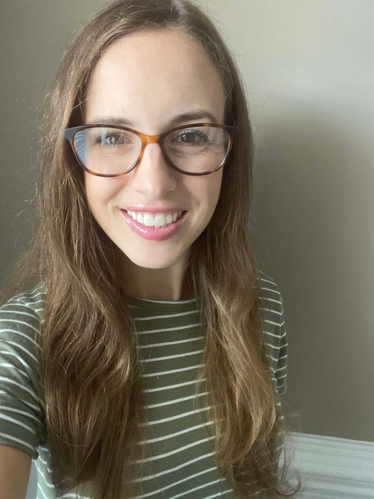 Daisy blue light glasses in Oak Barrel, medium - Try on ethically made blue light glasses from Warby Parker at home!  |  Fairly Southern