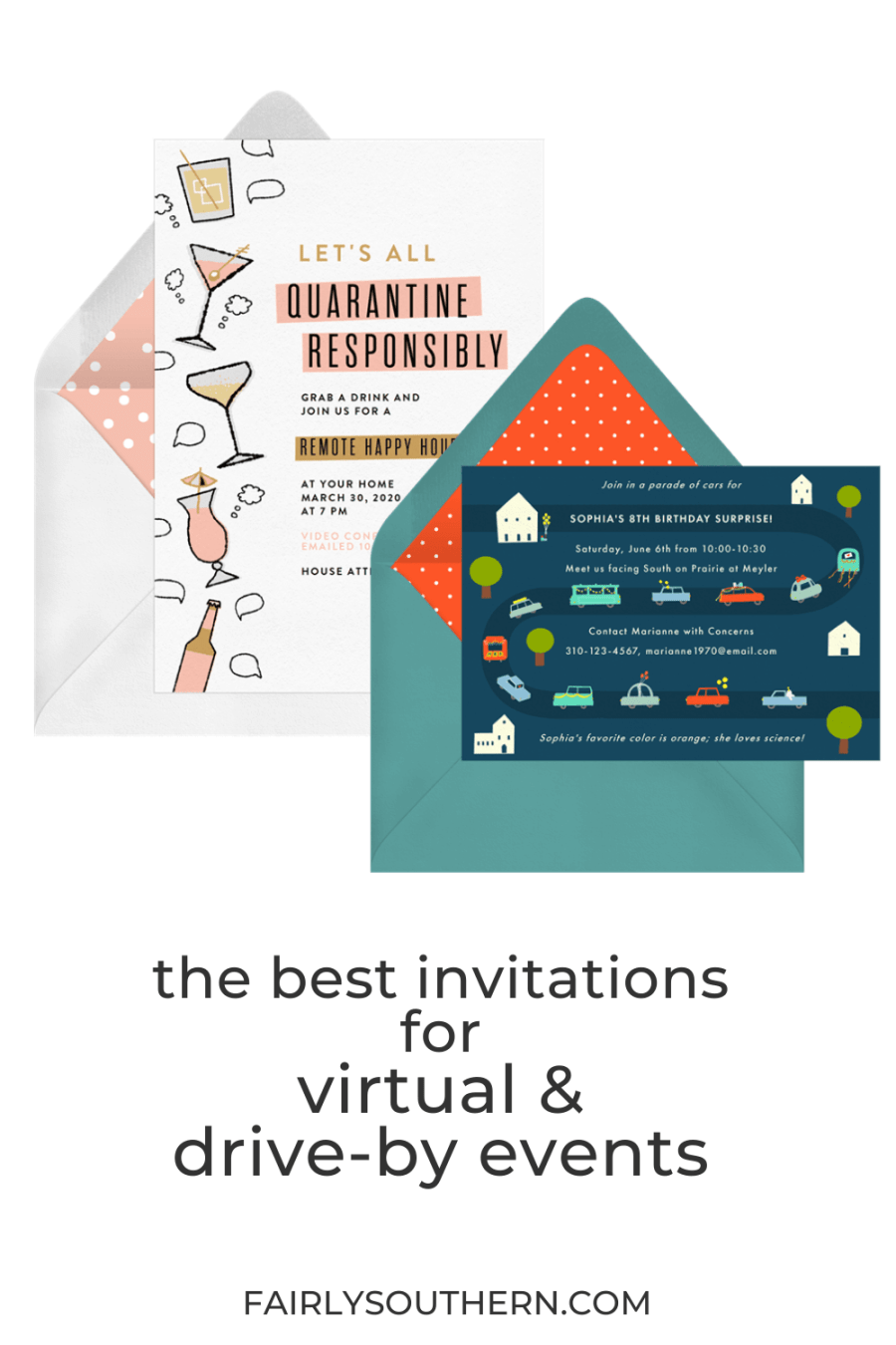 The Best Invitations for Virtual & Drive-By Parties