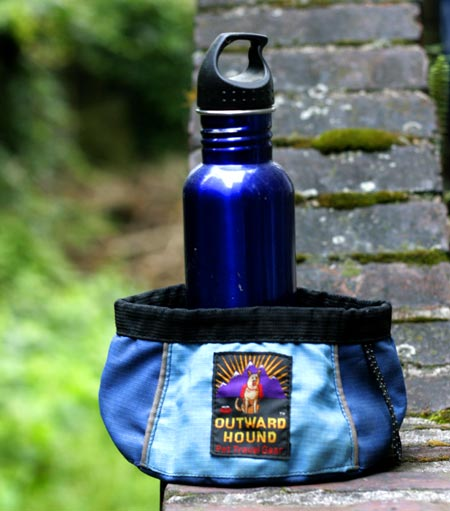 collapsible water bowl and water bottle
