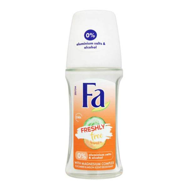 FA Freshly Free Cucumber And Melon Scent Deodorant Roll On 24H