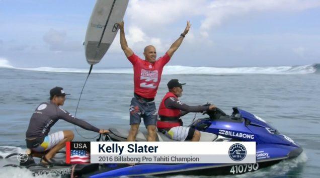 Kelly Slater Campeao Teahupoo 2016 [WSL]