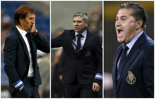 Treinadores da temporada 2015/2016: Julen Lopetegui | Rui Barros | José Peseiro