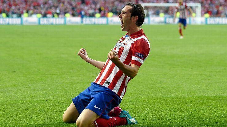 """Diego Godín é a principal """"arma"""" do Atlético nas bolas paradas [Foto: www.espnfc.com]"""