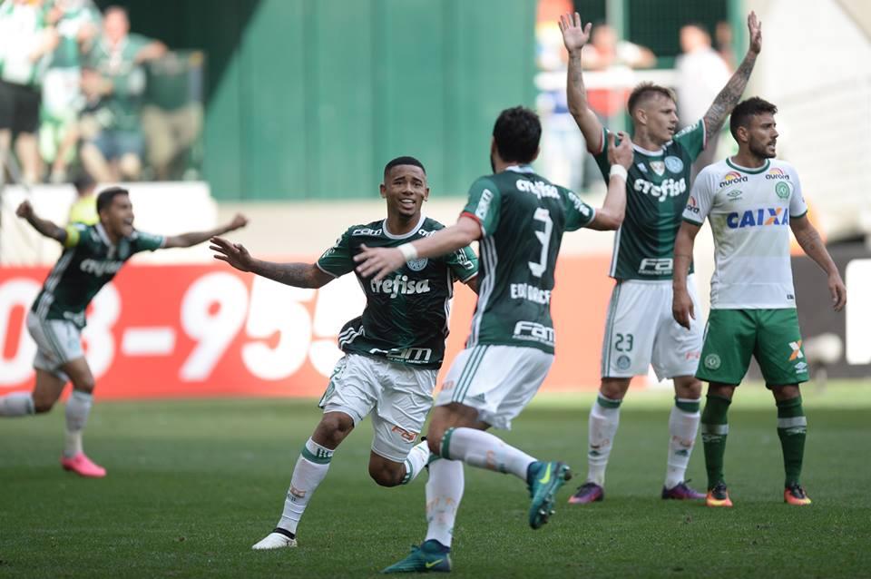 Gabriel Jesus foi a figura maior do Palmeiras Foto: Pedro Martins/Mowa Press