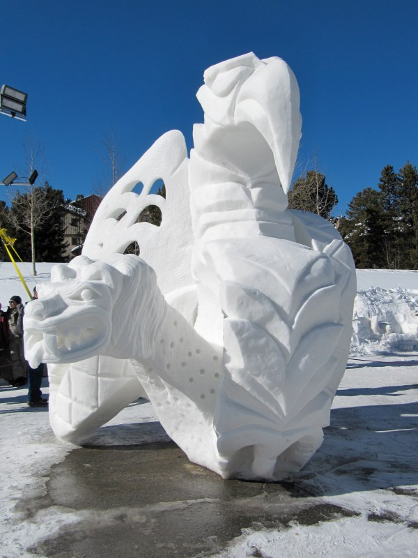 Snow Sculptures Breckenridge Colorado January 2013 2012