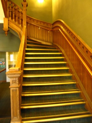 The Columba Hotel staircase.