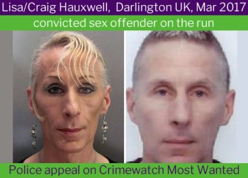 Lisa (Craig) Hauxwell, transgender rapist. Most transgender women have a working penis - FairPlayForWomen.com