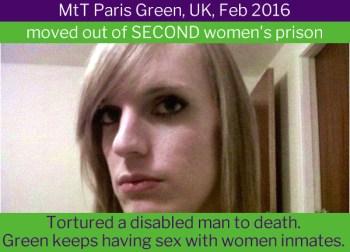 Paris Green, transgender murderer