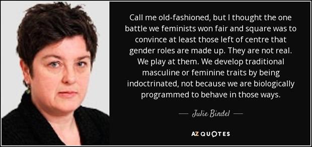 Julie Bindel, gender-critical feminist author