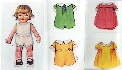 1920 paper doll Baby Bobby