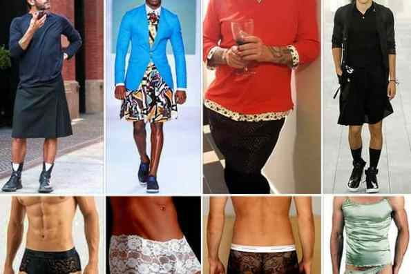 Fair Play For Women - What makes skirts, makeup, fancy knickers feminine? When a masculine man wears them, do they become manly?