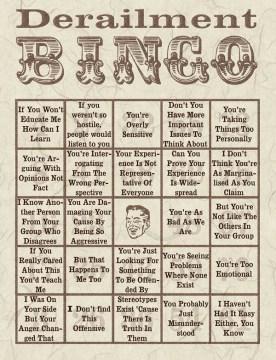 Derailment Bingo - FairPlayForWomen.com