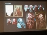 Gloin's design has to convince the audience that he's Gimli's father. Thus the reference image of Gimli from LotR.