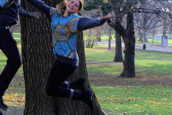 Partner-Look: afrikanischer Wax Print Sweater für Frauen