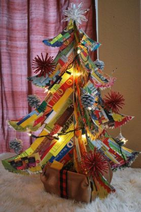 http://www.instructables.com/id/Junk-mail-Christmas-tree/