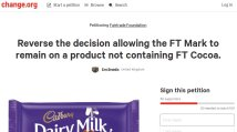 https://www.change.org/p/fairtrade-foundation-reverse-the-decision-allowing-the-ft-mark-to-remain-on-a-product-not-containing-ft-cocoa