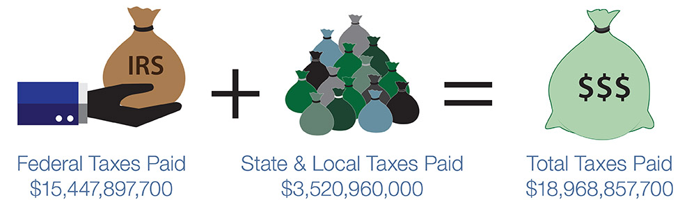Total taxes paid by illegal immigrants