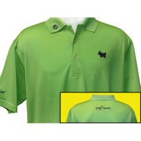 Scotty Cameron 2011 Solid Lisle w/Navy Scotty Dog Polo Shirts - $150