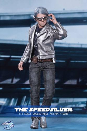 Soosoo Toys 1 6 Scale Quicksilver Speed Silver Figure Xmen