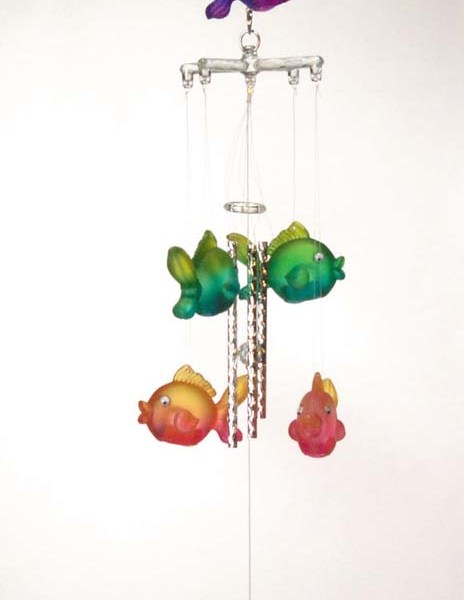 3 Dimensional Tropical Fish Wind Chime   6-25