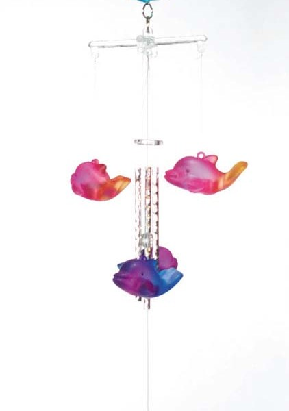 "20"" 2-Tone Dolphin Wind Chimes  6-9"