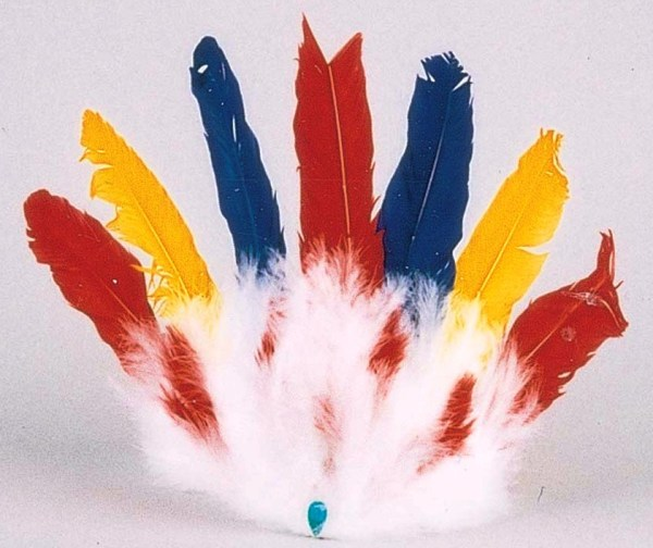 Colorful Indian 7 Feather Headdress    6-925