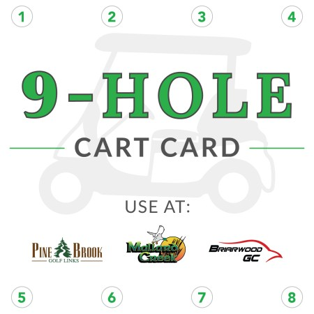 9 Hole Cart Card
