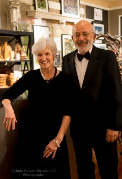 Joan and Ron Smith, wine steward and hostess.