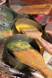 Encaustic bees wax colored pigments