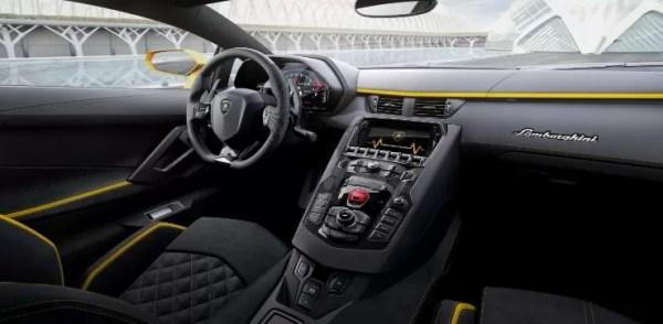 Gold Foil Lamborghini Aventador S interior