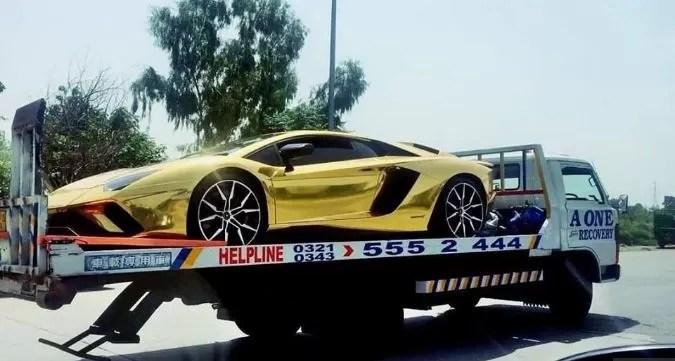 Lamborghini Aventador S 18k Gold Foil In Islamabad Pakistan 2018